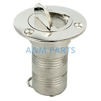 Marine Keyless Boat Water Deck Filler Cap Stainless Steel W Key 316 1 1 2