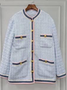 Walla Era 2019 spring jacket long design blue coat femme