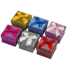 24pcs Paper Jewellery Storage Field 5*5*3cm Multi Colours Ring Stud Earring Packaging Reward Field For Jewellery Packaging Free Transport