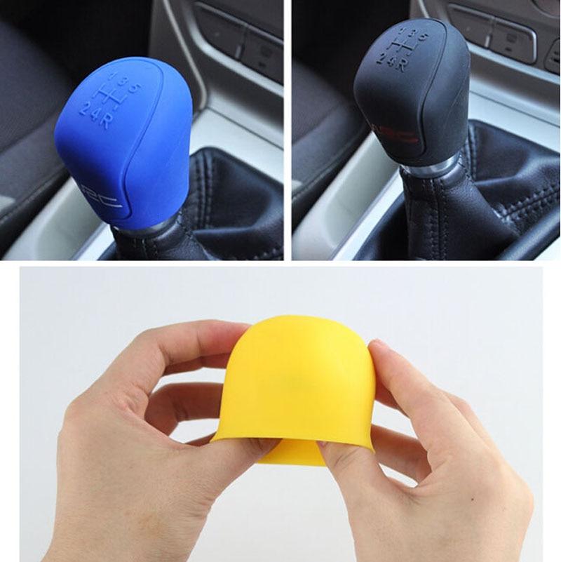 Silicone Car Gear Knob Cover Head Glov Gear Collars Handbrake Grips Sleeve OK~5