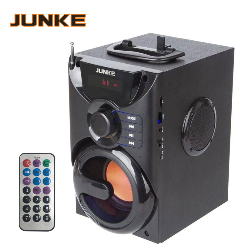 Wooden 2.1 Speakers Stereo And Subwoofer Bluetooth Speaker Portable Wireless Loudspeaker Mp3 Sound System Computer Column