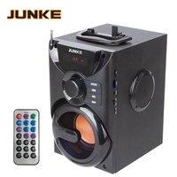 JUNKE Wooden 2.1 Speakers Stereo And Subwoofer Bluetooth speaker Portable Wireless Loudspeaker Mp3 Sound System Computer Column