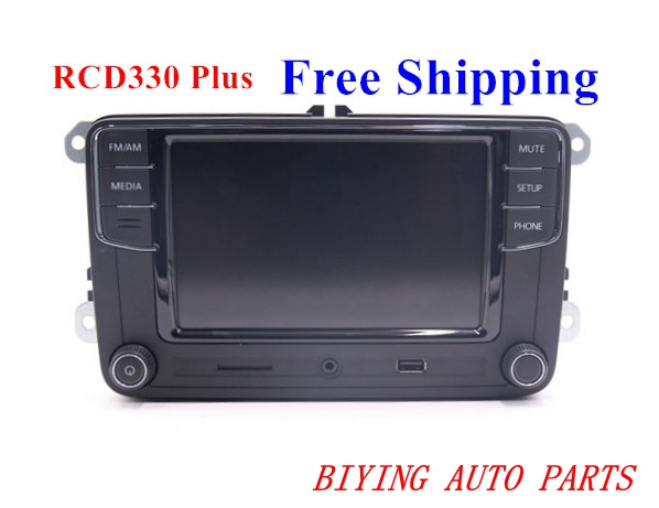 "Free Shipping Car 6.5"" MIB UI Radio RCD510 RCN210 RCD330 RCD330G Plus For Golf 5 6 Jetta CC Tiguan Passat"