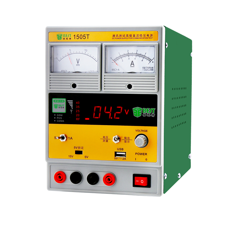 15v5a mobile phone repair power supply, DC adjustable linear power supply, current and voltage test table mobile phone repair adjustable dc power supply 15v3a linear digital pointer power ammeter