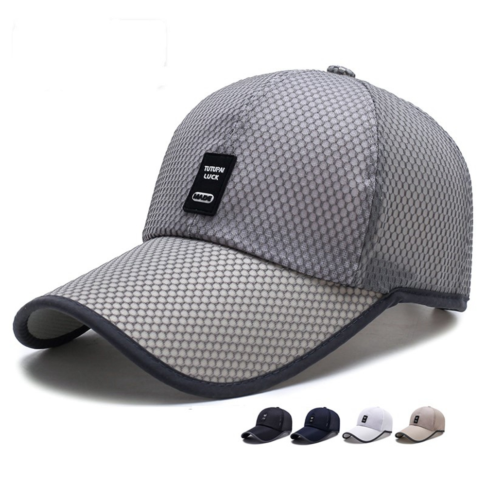 Quick Drying Hats For Men Blue gray Limited Time Special full mesh   cap   Summer Breathable Mesh   Baseball     Cap