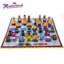 цена на 32pcs/set Super Mario Bros Chess Party Game Yoshi Koopa Mario Luigi Mushroom Peach PVC Home Decoration Children Birthday Gift