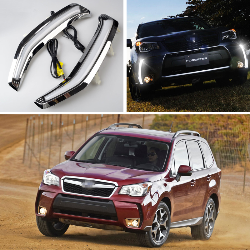 2Pcs Car LED DRL Daytime Running Light Driving Fog Lamps For Subaru Forester 2014