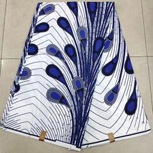 Latest block print fabrics 100% Cotton Ankara African First Wax Block Print Fabric by 6 Yards KWSH-6