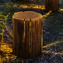Modern Stump Lawn Exterior Light Resin Grass Garden Outdoor Landscape Park Lamp