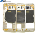 Orginal Middle Frame Bezel Chasis For Samsung GALAXY S6 Housing Cover replacement part Blue White Gold