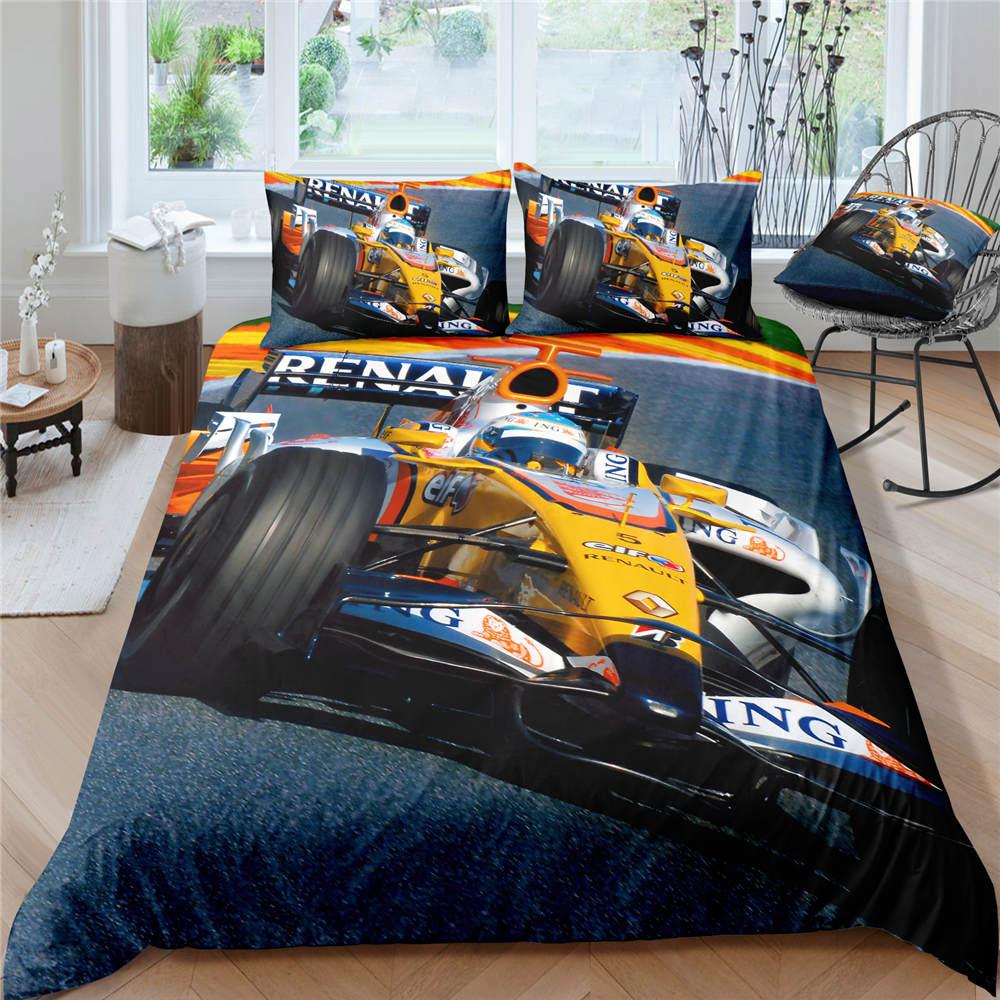3D garçons Cool camions Racer Sports literie couette housse de couette adultes enfants Twin King linge de lit literie housse de couette ensemble