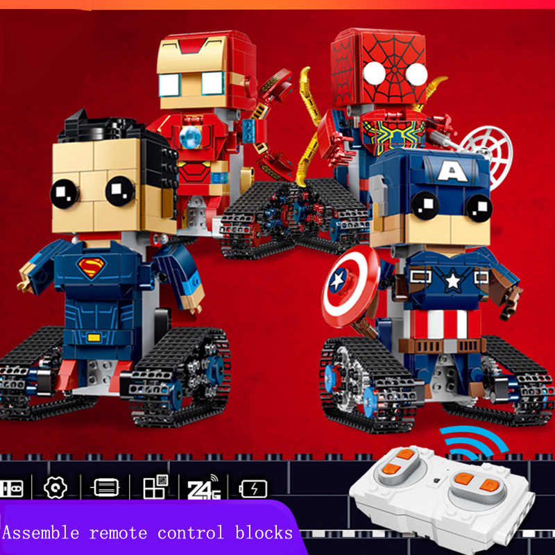 Avengers Super heroes figure Brickheadz iron Man Spiderman Captain America Building Block Bricks Toy compatible kids gift