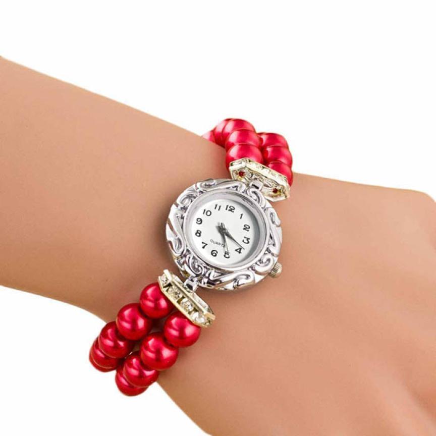 100% QualitäT Langlebig Uhr Frauen Frauen Studenten Schöne Mode Marke New Golden Perle Quarz Armband Uhr Quarz-uhr Die Neueste Mode