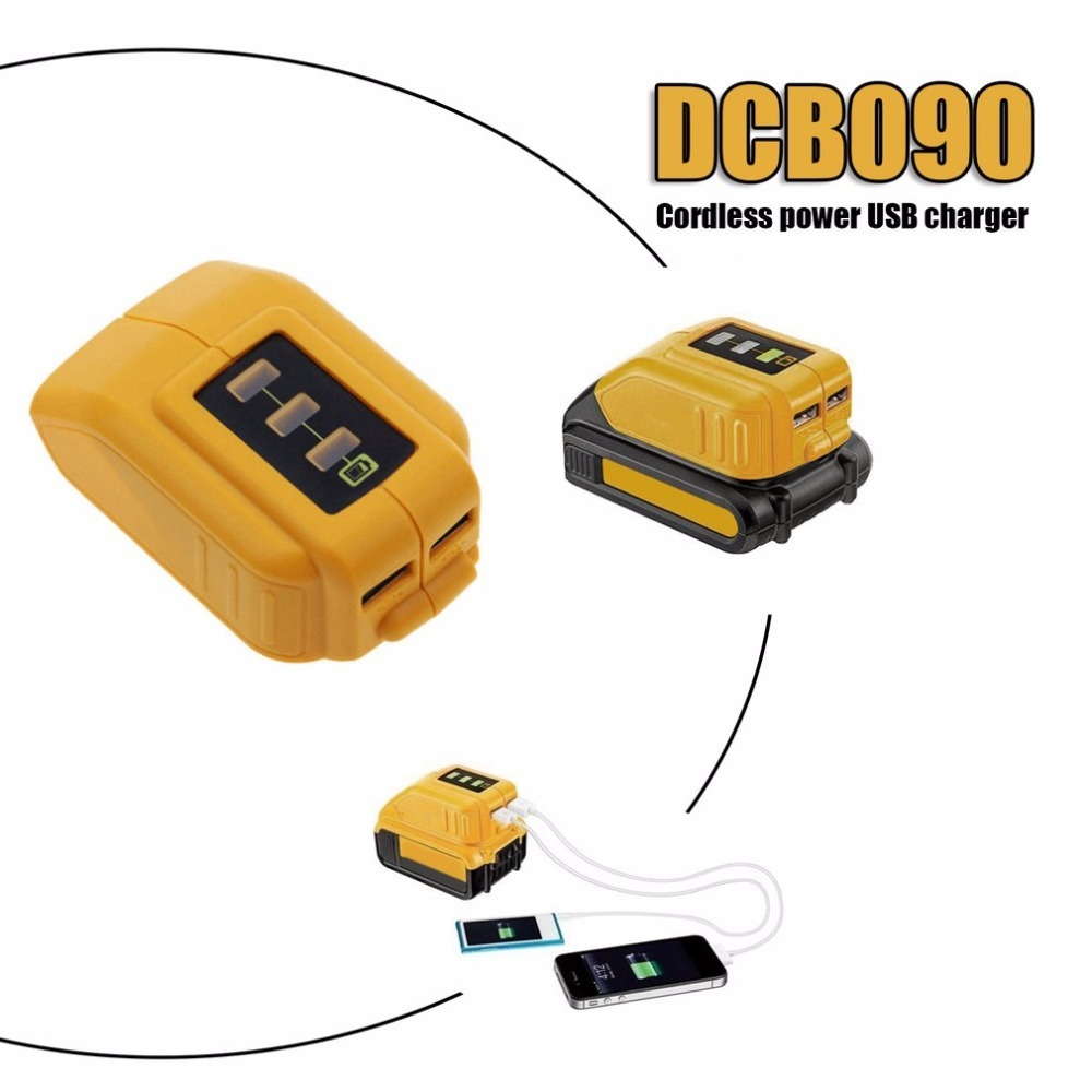 New DCB090 12V/20V Max USB Power Source for Dewalt Cordless Power USB Charger Compatible With Electronic Devices