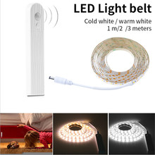 LED Cabinet Light  Activated Bed Light PIR Motion Sensor USB LED Strip SMD Wardrobe Lamp  PC TV Backlight Bedside Stairs Night цена