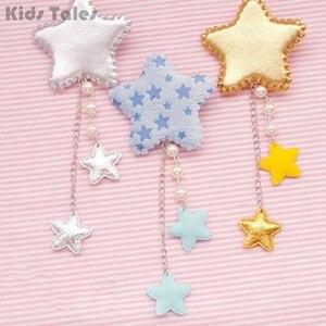 Lolita Star épingles à cheveux pour filles | Clip de cheveux, accessoires bandeaux longs gland mode Cosplay cadeau, 1 pièce KYY8228