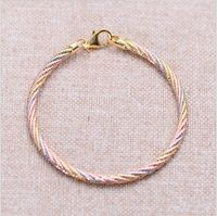 Black silver jewelry wholesale wholesale 925 sterling silver jewelry two gold bracelet xh050511 2mm female