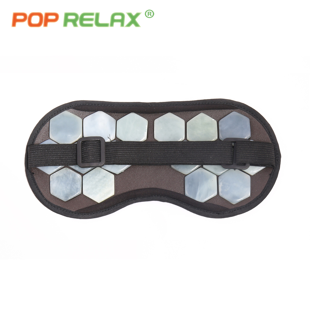 POP RELAX real jade stone eye mask for sleeping on airplane physiotherapy traveling portable patch health care facial face mask