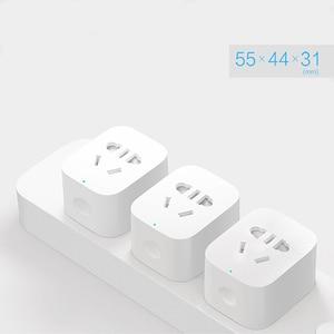Image 2 - 100% המקורי Xiaomi חכם שקע תקע בסיסית WiFi אלחוטי מרחוק שקע מתאם כוח לסירוגין עם טלפון