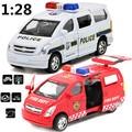 Juguetes para niños aleación tira del coche modelo, 1:28 alta simulación de negocios vans autos, coches de policía, ambulancias, envío gratis