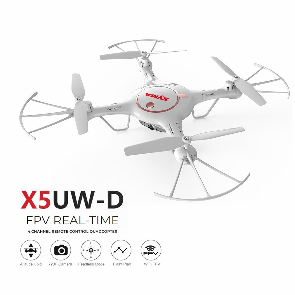 Original Syma X5UW-D Wifi FPV Adjustable 720P HD Camera RTF Optical Flow Positioning Altitude Hold Quadcopter Remote Control Toy