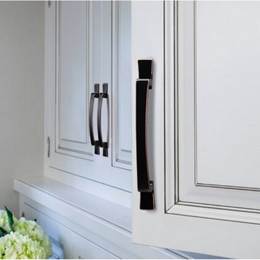 Two use creative retro larger furniture handle black antique copper drawer  kitchen cabinet wardrobe door handle 64mm 160mm 320mm - ᗚTwo Use Creative Retro Larger Furniture Handle Black Antique