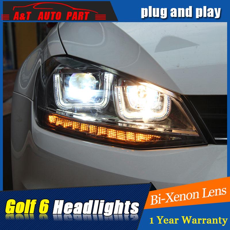 new head lamps Car Styling for VW Golf7 Headlights Golf 7 MK7 LED Headlight DRL Lens