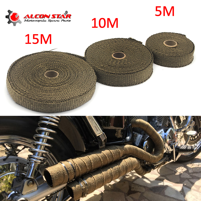 Front-Pipe Tape Wrap Heat-Shield Insulation-Resistant Exhaust Motorcycles Stainless-Ties