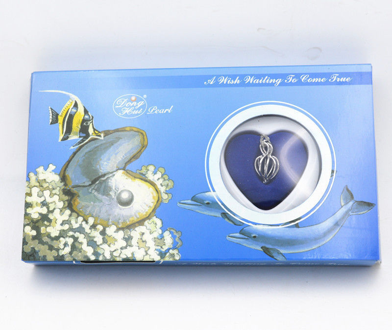 Free Shipping **Holiday birthday Gift Love Wish Pearl Kit Heart Cage 17chain Necklac Seashells