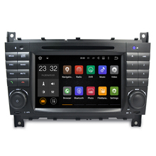 Quad Core 2G RAM Android 7.1 DVD Del Coche para Mercedes Benz C clase CLS W219 W203 CLK W209 Android Radio Reproductor de CD de Navegación GPS