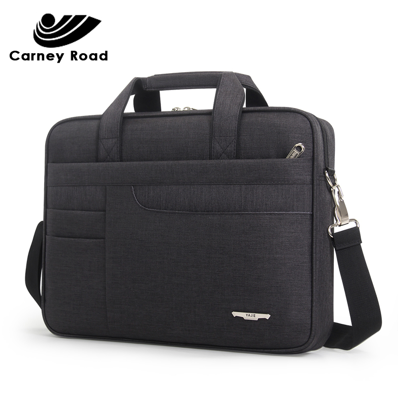 Brand Waterproof Men Women 14 15.6 Inch Laptop Briefcase Business Handbag For Men Large Capacity Messenger Shoulder Bag