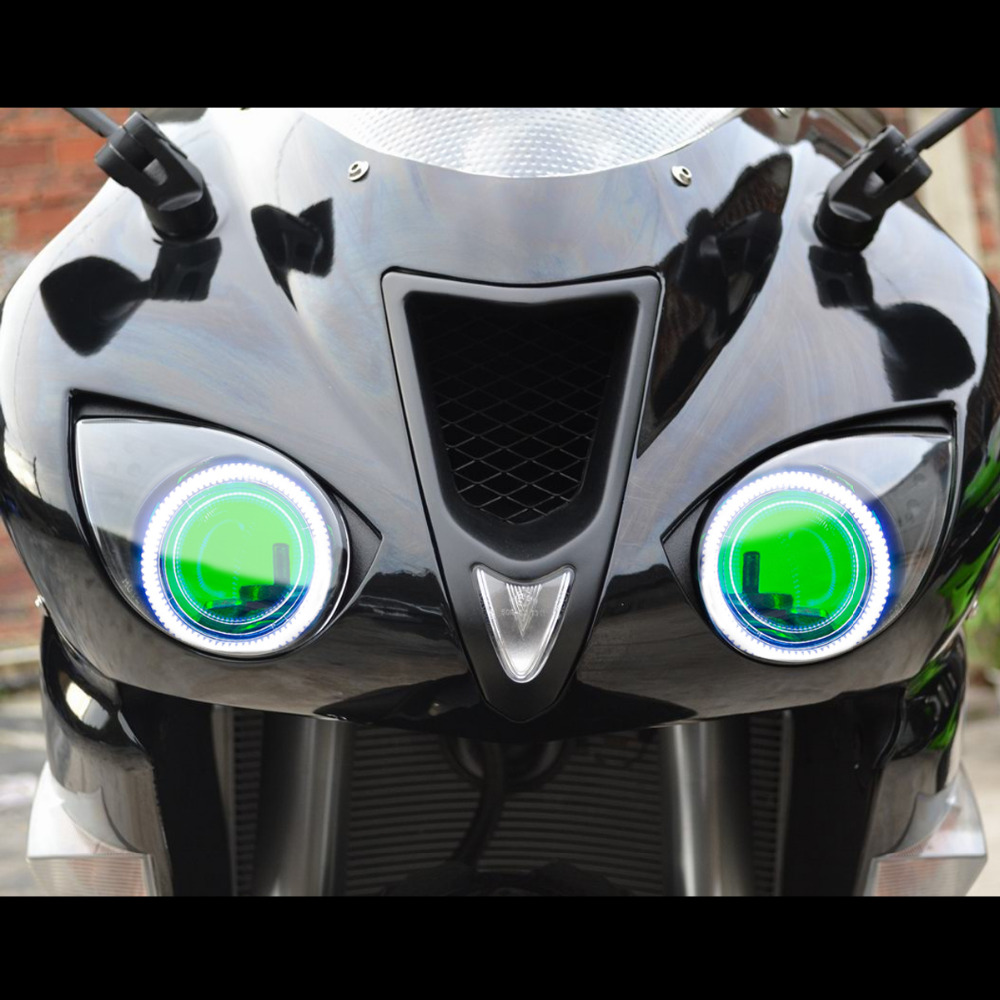 Kt Headlight Suitable For Kawasaki Zx 6r Zx6r 2007 2008 Led Angel 07 Wiring Harness Eye Green Demon Eyes Motorcycle Hid Bi Xenon Projector Lens On Alibaba