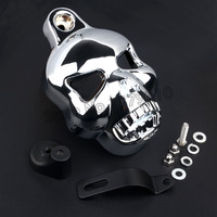 Skull Horn Carburetor Cover For Harley Softail Dyna Electra Glide Road King
