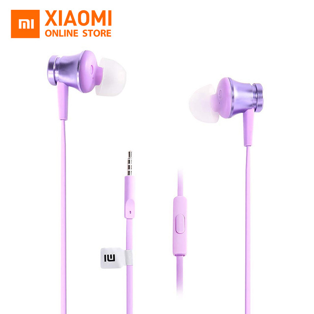 Original Xiaomi Piston Basic 3.5mm Wire Control Earphone 1.25m with Mic For  smartphone