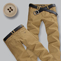 2016 new high quality Men cotton Pants Male business straight casual trousers Men's dark khaki Clothing pants Size 28-38