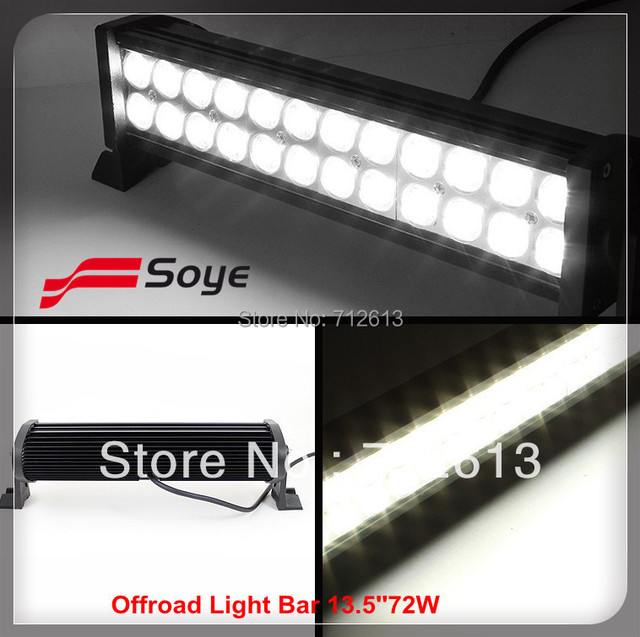13.5'' 72W  led offroad light bar, led bar lights 4x4 for ATV, SUV driving, off road bar lights UTV