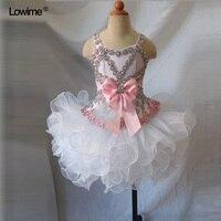 קטן סקסי בנות שמלת ילדה פרח אורגנזה הקודש הראשון שמלות נשף ערב תחרות לזוהר בנות חתונות