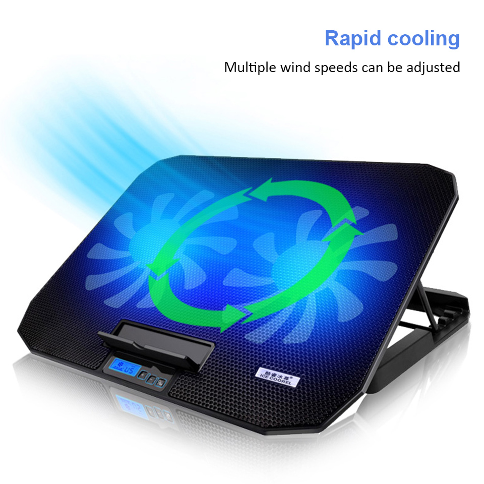 Laptop cooler 2 USB Ports and Two cooling Fan laptop cooling pad Notebook Stand for 12 15.6 inch for Laptop-in Laptop Cooling Pads from Computer & Office
