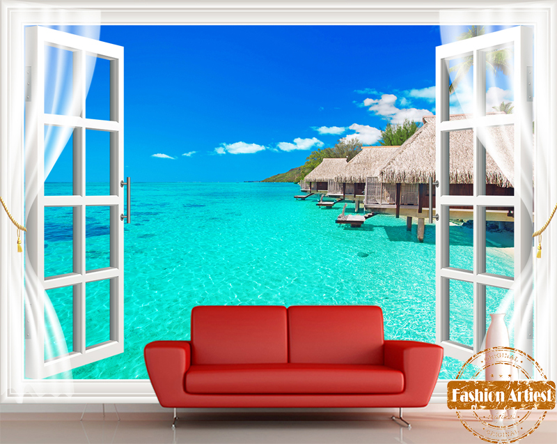 buy custom 3d maldives resort on sea. Black Bedroom Furniture Sets. Home Design Ideas