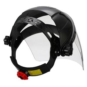 Image 4 - Anti choque capacete de soldagem rosto escudo máscara de solda lente transparente rosto olho proteger protetor anti uv anti choque máscara de segurança