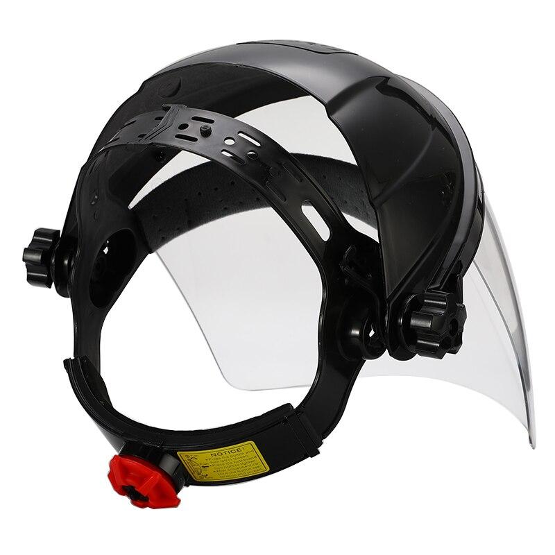 Image 4 - Anti shock Welding Helmet Face Shield Solder Mask Transparent Lens Face Eye Protect Shield Anti UV Anti shock Safety MaskMasks   -