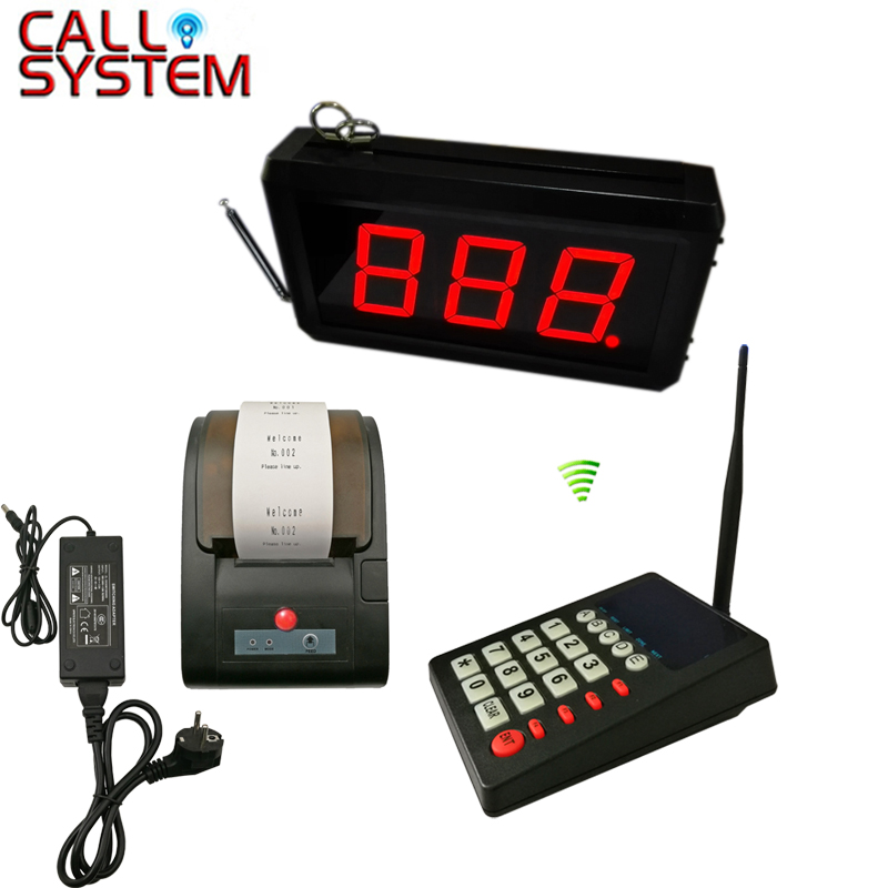 Queue Management System 3 digit number display with number ticket printer