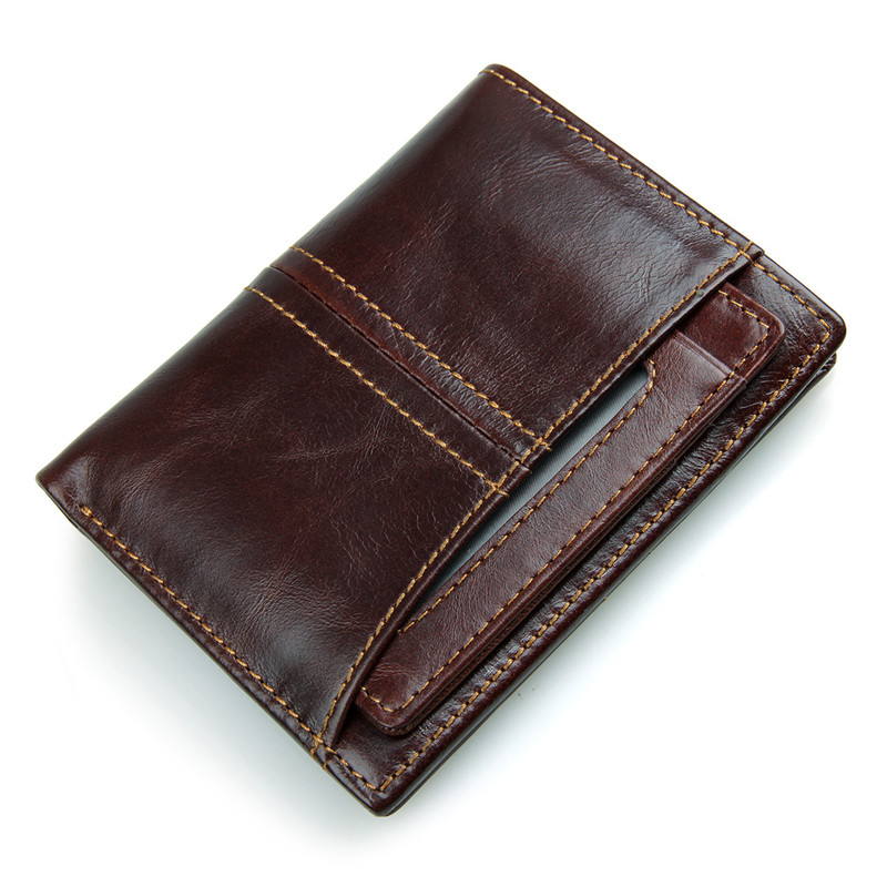Genuine Leather Men Short Wallets Cow Leather Male Bifold Wallet Men Zipper Coin Purse High Quality Small Thin Card Holders fashion genuine leather men wallets small zipper men wallet male short coin purse high quality brand casual card holder bag
