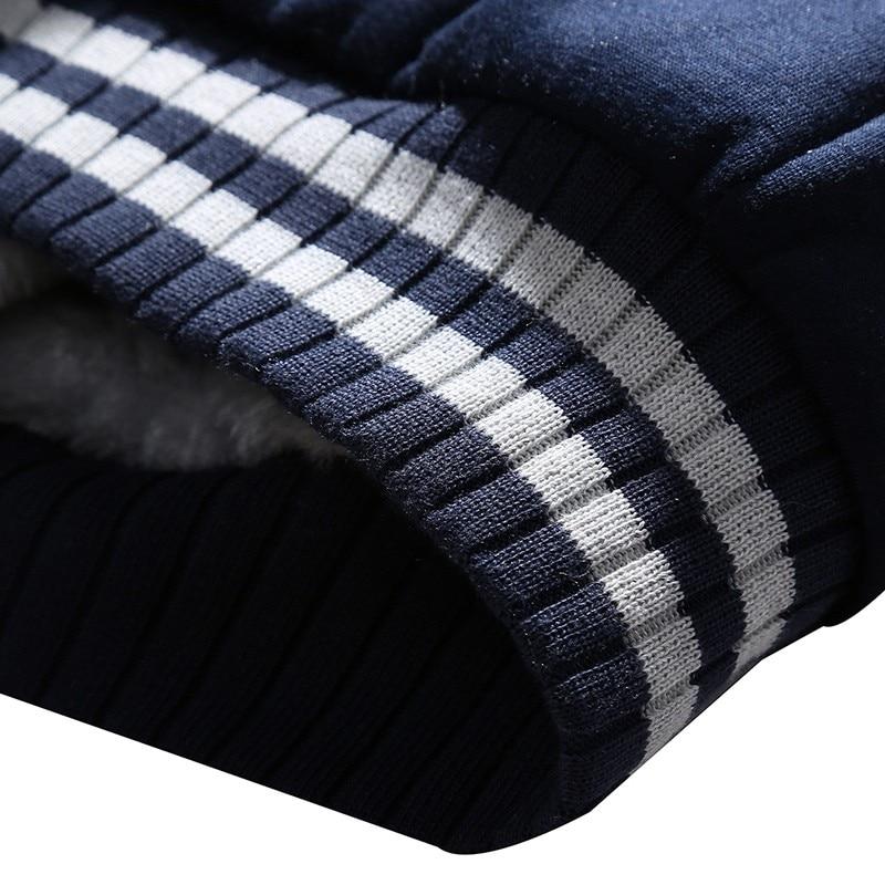 Winter Inner Fleece Hoodies Men Casual Hooded Warm Sweatshirts Male Thicken Tracksuit 2PC Jacket+Pant Men 31