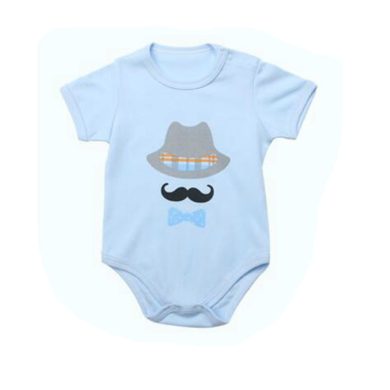 [Unini-yun] Baby Boys Girls Clothes moustache Infant Clothes Cotton Newborn Baby Rompers Baby Coveralls Spring Clothing Sets