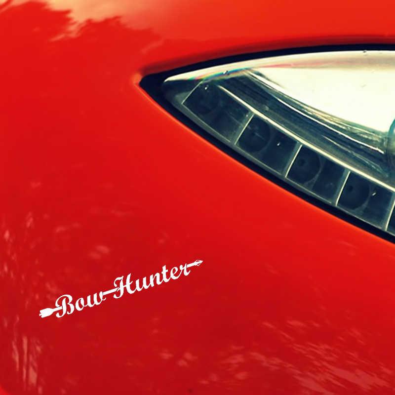 YJZT 14.5 سنتيمتر * 1.6 سنتيمتر القوس هنتر الفينيل صائق السهم سيارة ملصقا أسود الفضة C10-02298