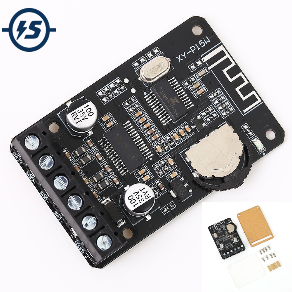 Stereo Bluetooth Power Amplifier Board <font><b>12V</b></font> 24V 10W 15W 20W Bluetooth Receiver Module with Case for DIY Dual-Channel image