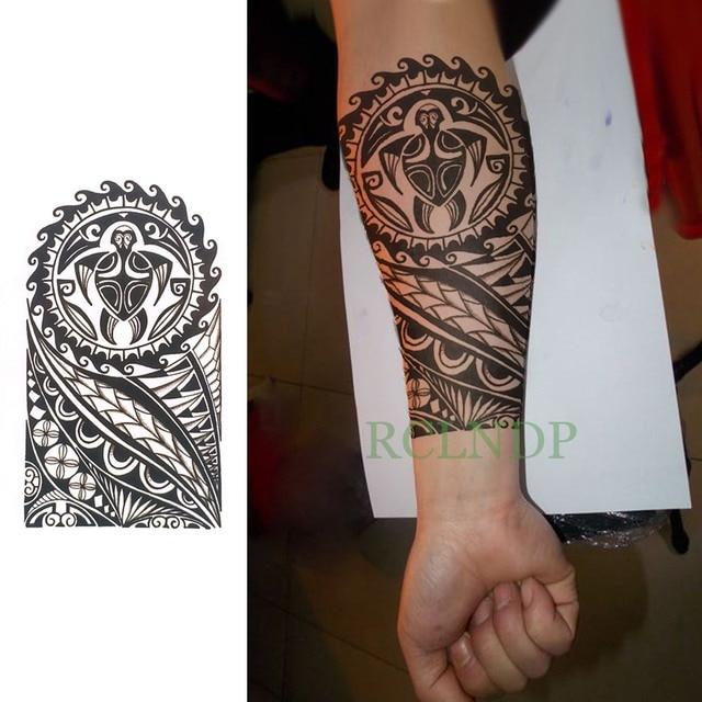 Waterproof Temporary Tattoo Sticker Cool Tribal Totem Fake Tatto Flash Tatoo Tatouage Stickers Hand Arm Leg For Girl Women Men Temporary Tattoos Aliexpress