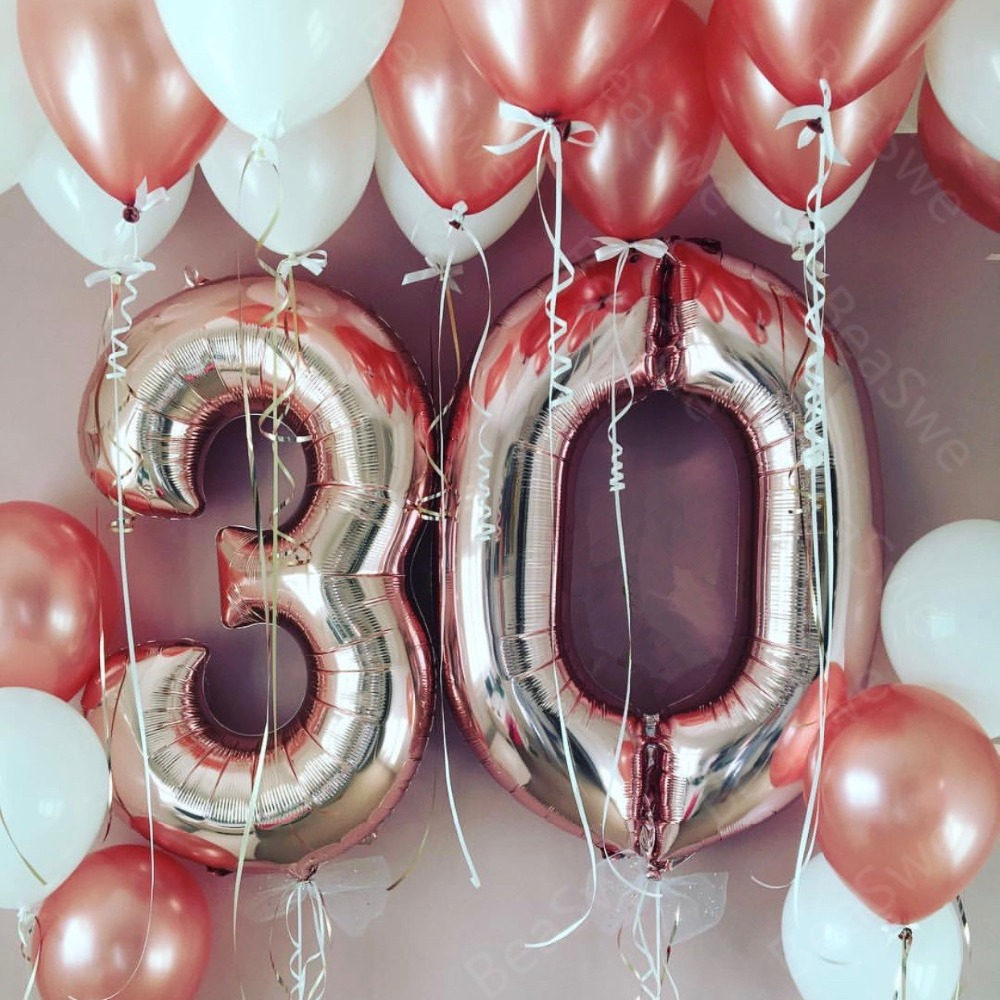 """30/"""" Giant Numbers Foil Balloons Air Fill Create Any Age Birthday Decor Baloon"""