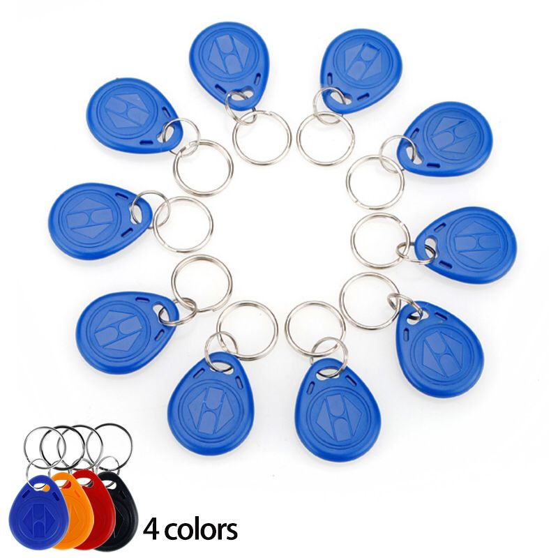 RFID 10pcs Keyfobs Keychains Key Tags 125KHZ Rfid Cards TK4100 EM Cards Colorful Keys With High Quality Free Shipping